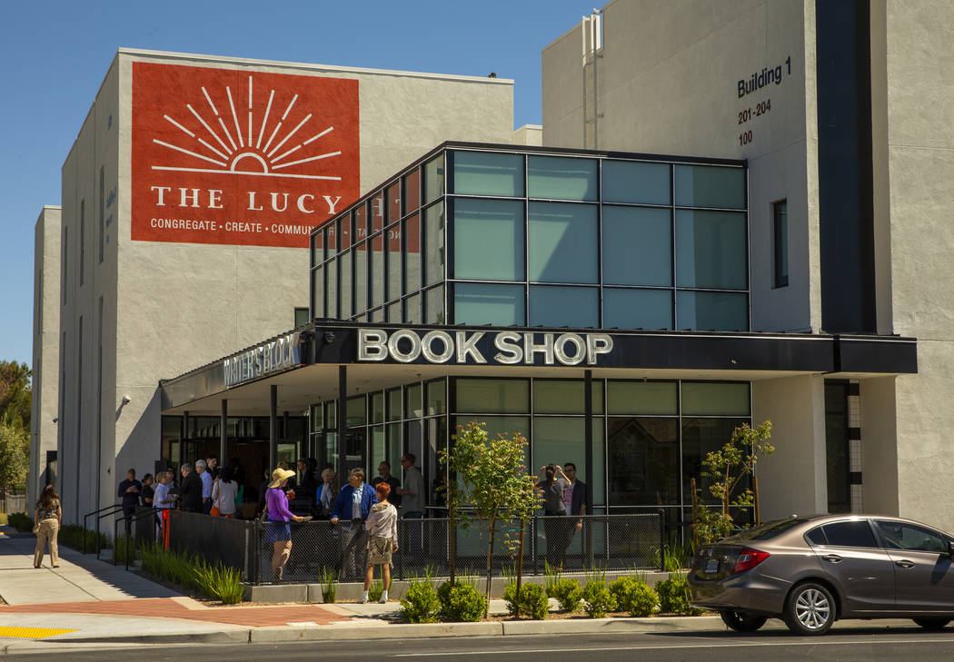 A view of the Writer's Block bookstore's new location in downtown Las Vegas on April 13, 2019. ...