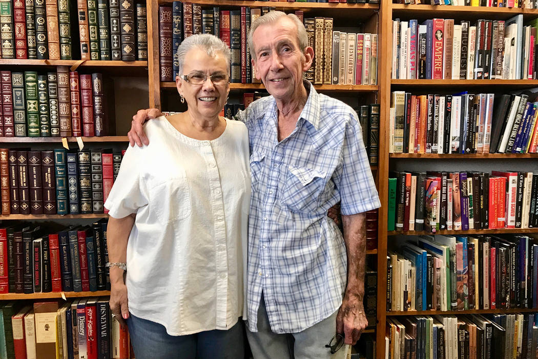 Myrna and Lou Donato in their bookstore, Amber Unicorn Books. (Madelyn Reese/View) @MadelynGReese