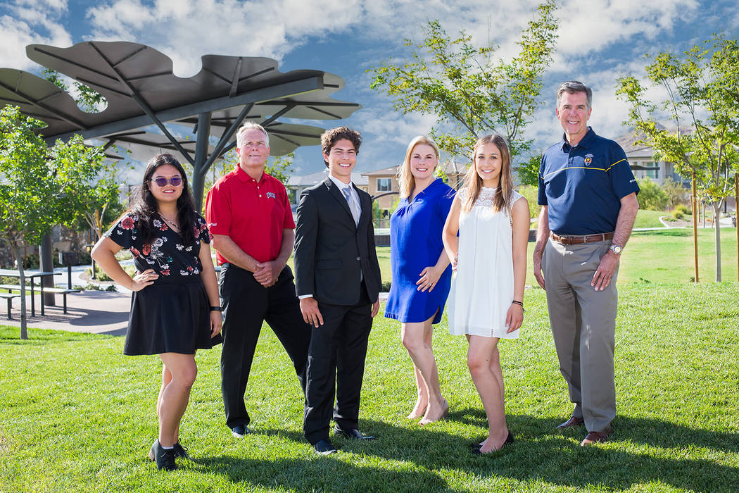 Joining executives of The Howard Hughes Corp. are 2019 Summerlin Children's Forum scholarship ...