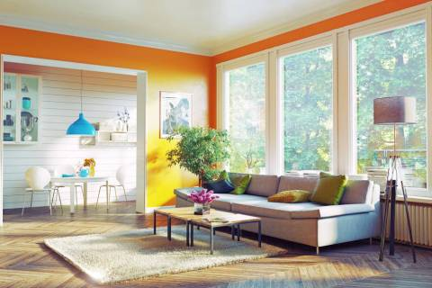 Extremely bright or dark paint colors, as well as mismatched colors, throughout the home can be ...