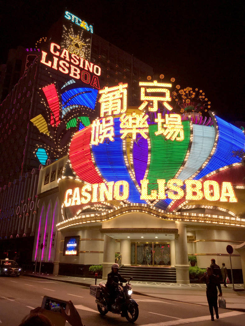 This Jan. 11, 2018 file photo shows the Casino Lisboa in Macao. (Chitose Suzuki/Las Vegas Revie ...