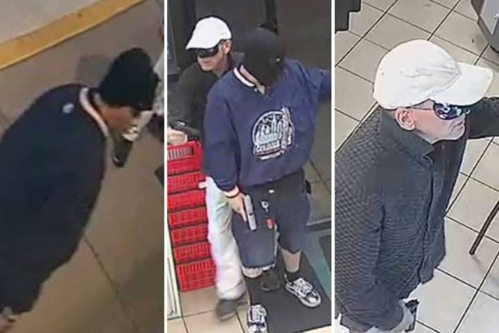 Police are seeking two men involved in an armed robbery Monday, Aug. 5, 2019, on the 7500 block ...