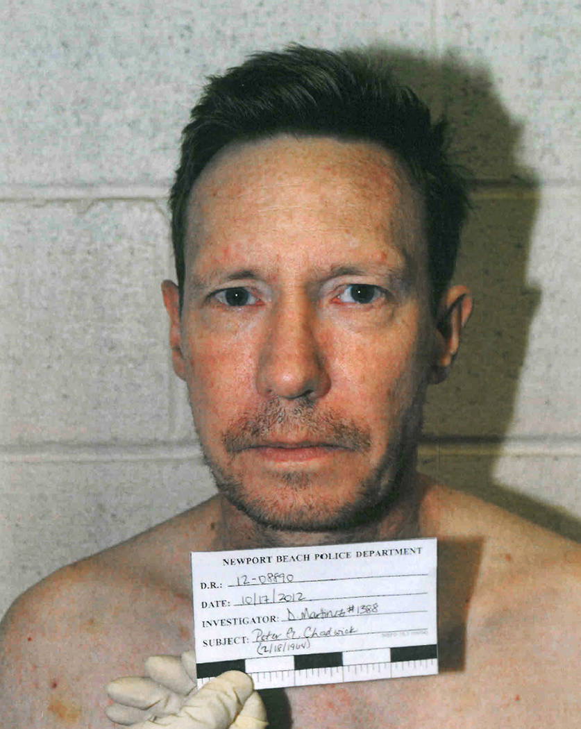This Oct. 17, 2012 booking photo provided by the Newport Beach, Calif., Police Department shows ...