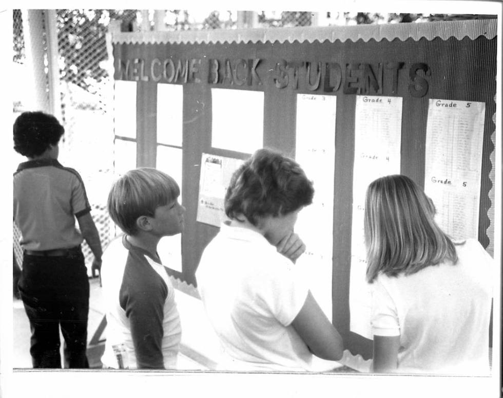Welcome back, everyone. Enjoy the school year, and be glad the 1980s are over. (Gary Thompson/L ...