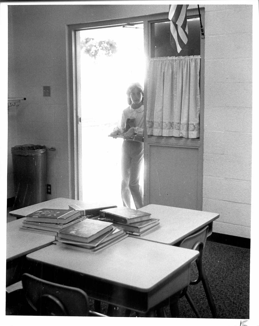 The 1981-82 school year is here, and Kim Drake is catching a glimpse of her new classroom. (Gar ...