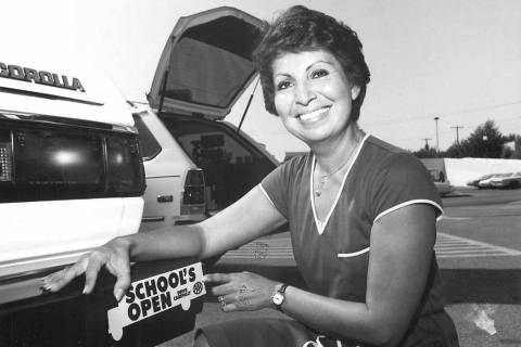 First day back at school bumper sticker shown by Vikki Lee. (Las Vegas Review-Journal)