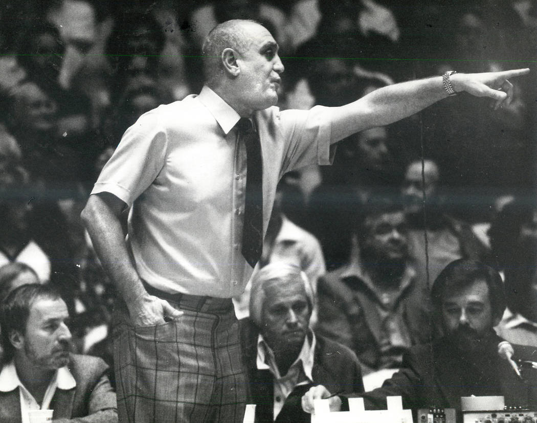 Jerry Tarkanian, seen in this 1981 photo, was an American basketball coach. He coached college ...