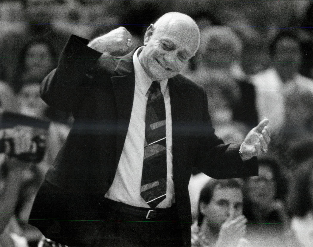 Jerry Tarkanian, shown in September, 1992, was an American basketball coach. He coached college ...