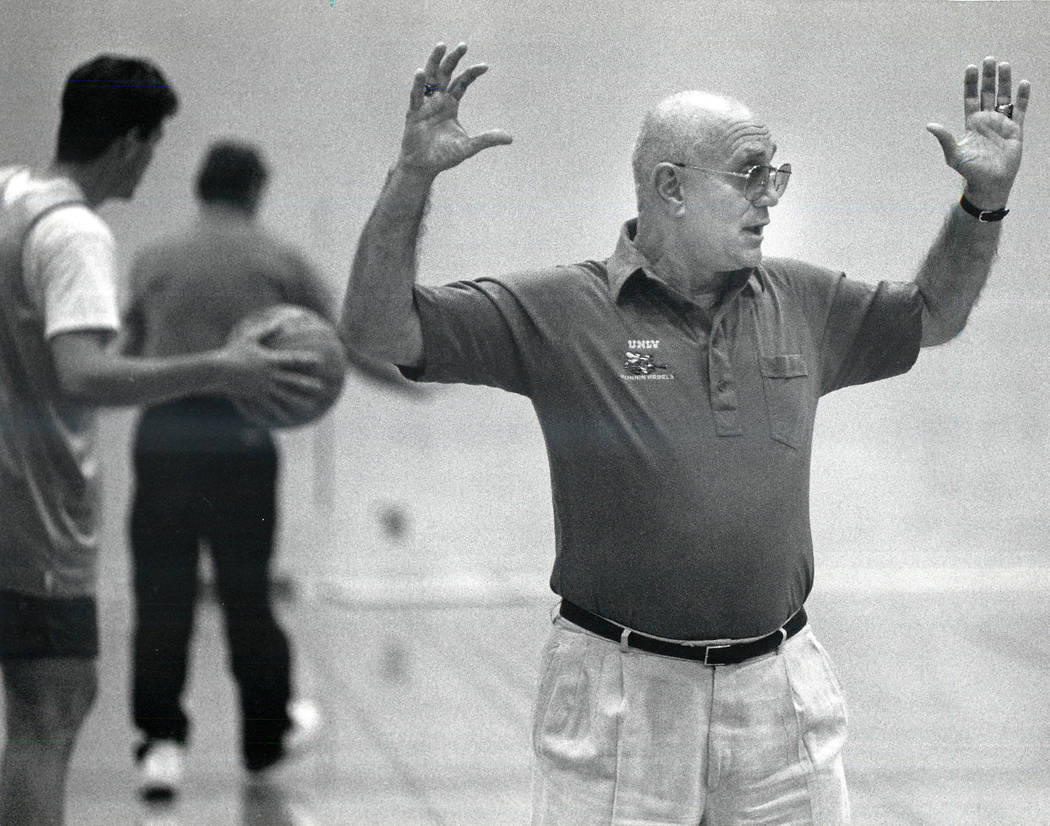 Jerry Tarkanian, shown on Oct. 15, 1991, was an American basketball coach. He coached college b ...