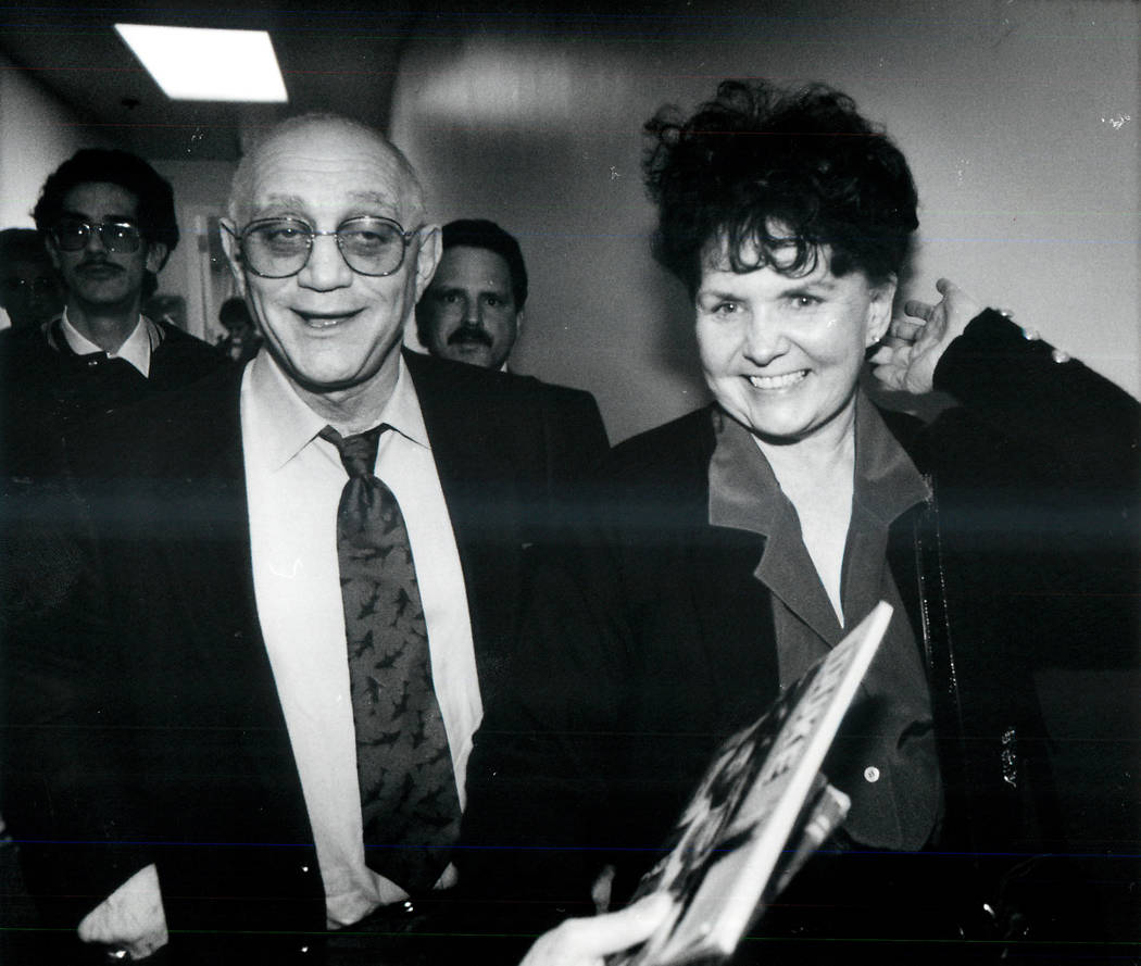 Jerry Tarkanian with his wife, Lois, in 1990. (File Photo)