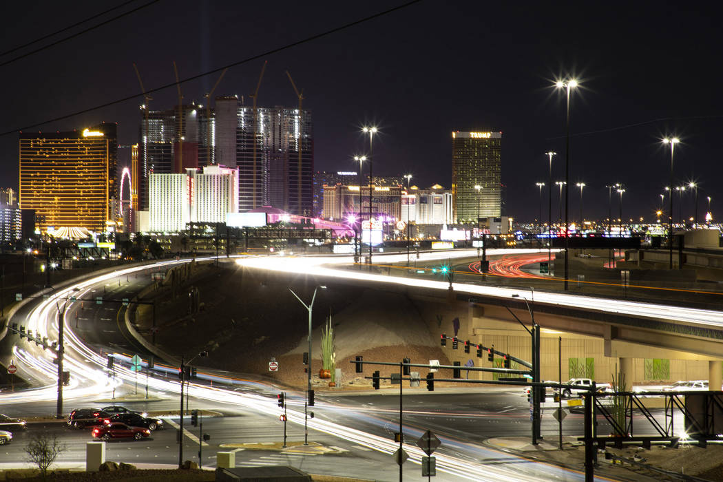 Project Neon enhanced Charleston Boulevard, improving the intersection at Industrial Road and u ...