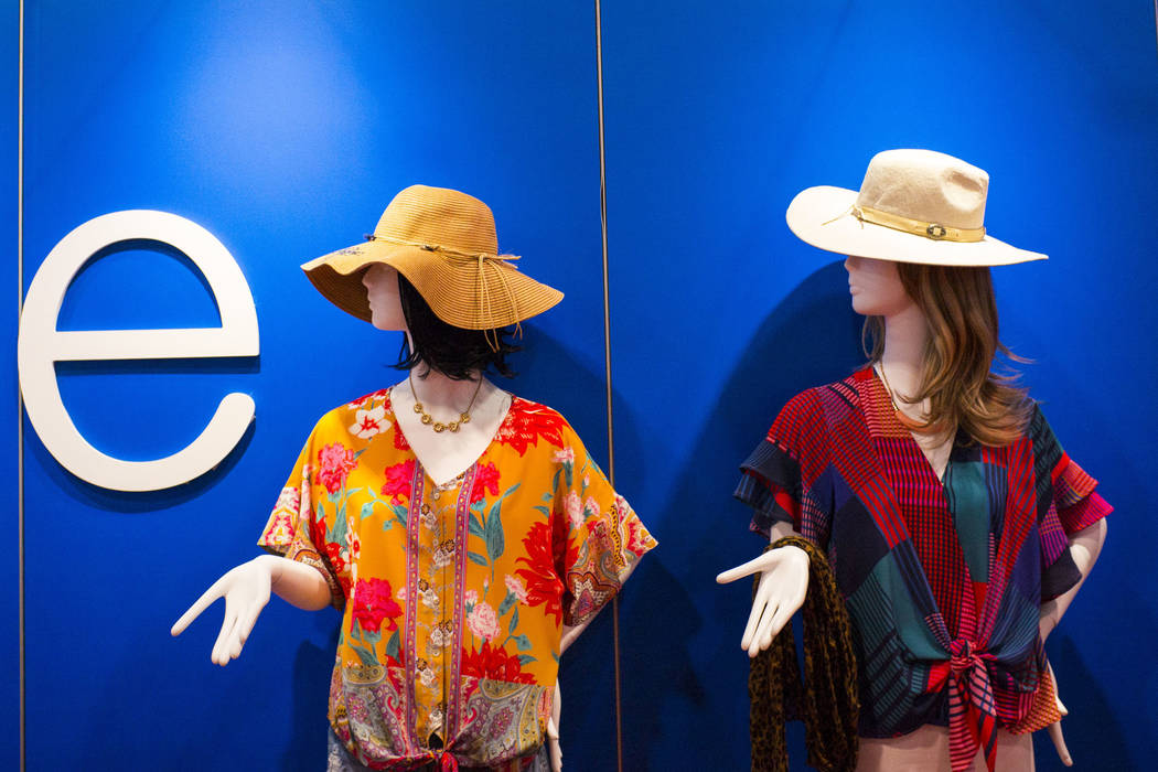 Mannequins dressed with apparel from Umgee on display at the MAGIC trade show at the Las Vegas ...