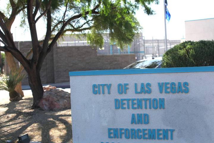 The City of Las Vegas Detention and Enforcement facility at 3300 E. Stewart Rd. is seen on Wedn ...
