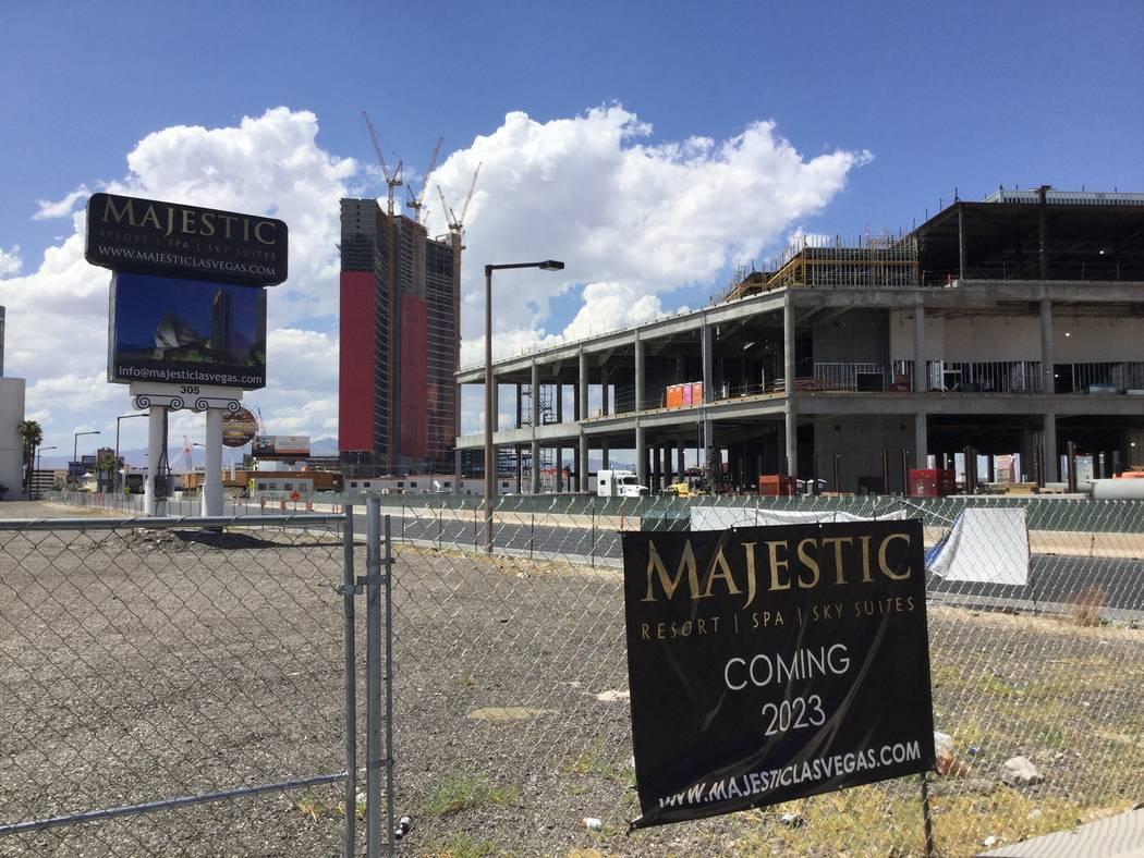 Developer Lorenzo Doumani has drawn up plans to build a 45-story hotel called Majestic Las Vega ...