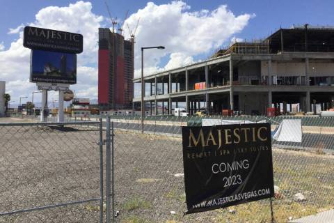 Developer Lorenzo Doumani has drawn up plans to build a 45-story hotel called Majestic Las Vega ...