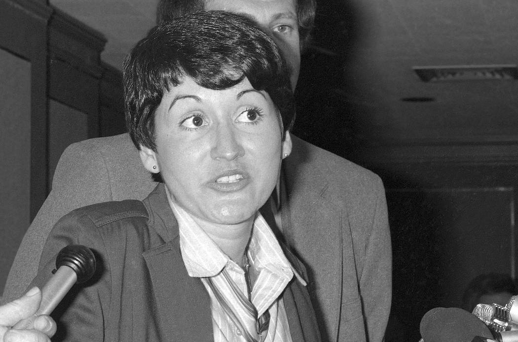 FILE - In this April 24, 1980 file photo, Rosie Ruiz, controversial first-place woman finisher ...
