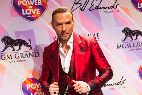 Matt Goss poses on the red carpet for Keep Memory Alive's 23rd annual Power of Love gala, raisi ...