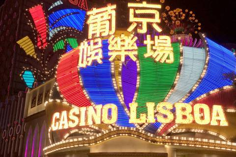 This Jan. 11, 2018 file photo shows the Casino Lisboa in Macau. (Chitose Suzuki / Las Vegas Re ...