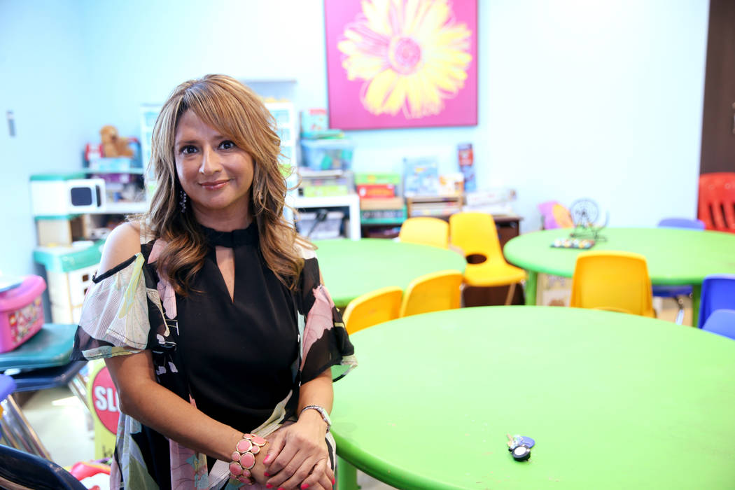 Executive Director Linda Perez at The Shade Tree shelter in Las Vegas Wednesday, July 17, 2019. ...