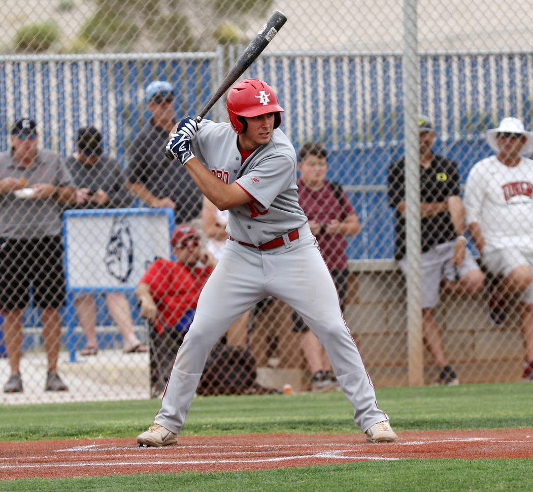 Arbor View's Dillon Jones, who played for Mountain Ridge during the 2014 Little League World Se ...
