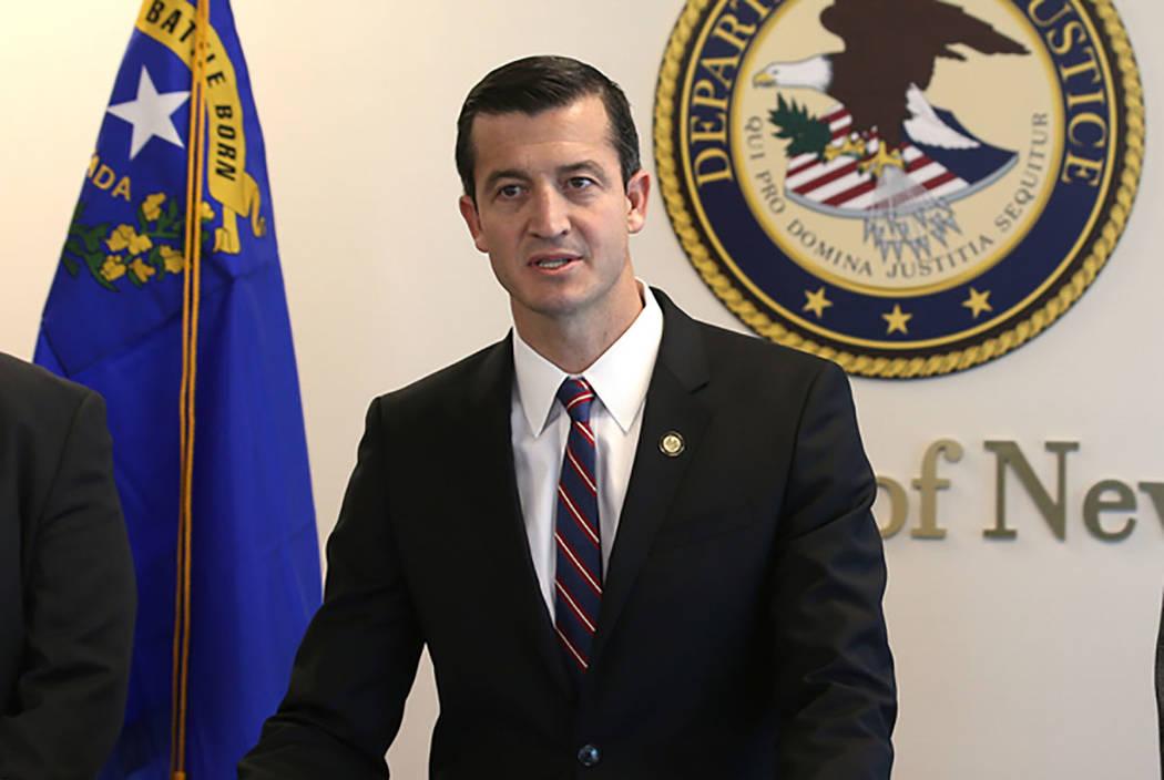U.S. Attorney Nicholas Trutanich, seen March 11, 2019, in Las Vegas. (K.M. Cannon/Las Vegas Rev ...