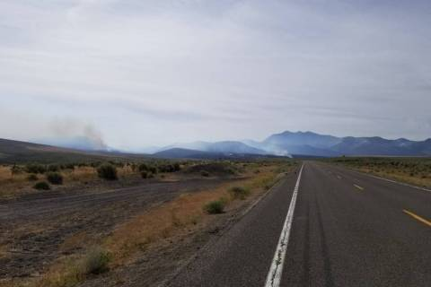 The Corta Fire has burned more than 15,000 acres near Elko, Nevada, as of Tuesday, Aug. 6, 2019 ...