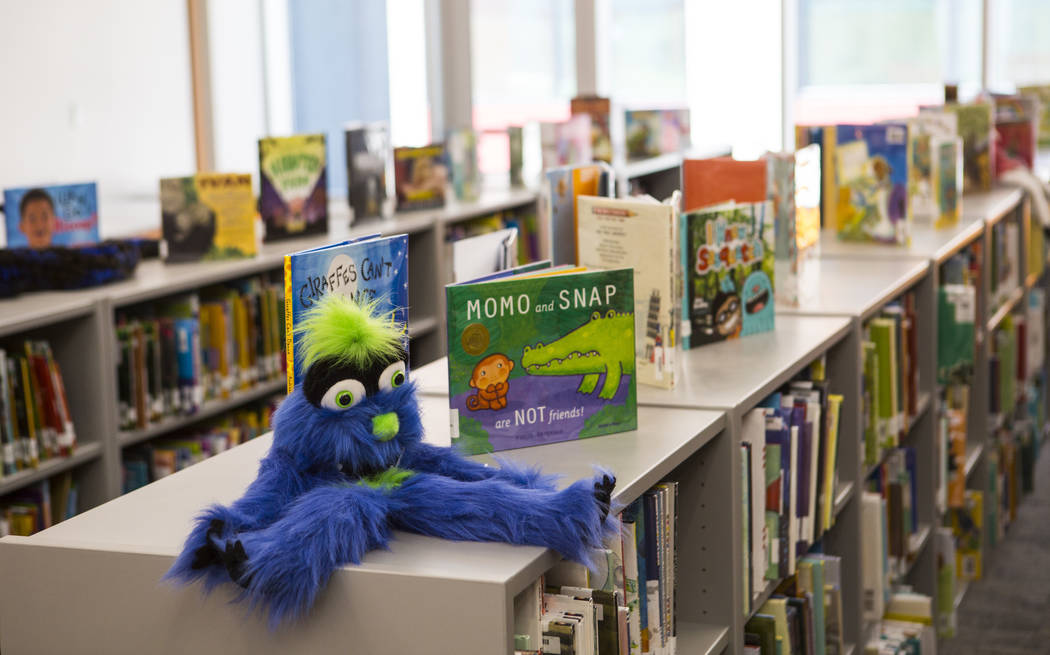 Items at the library after a ribbon-cutting ceremony for Earl Jenkins Elementary School in east ...