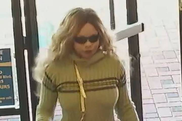 A woman is suspected of robbing four businesses in the northwest Las Vegas Valley. (Las Vegas M ...