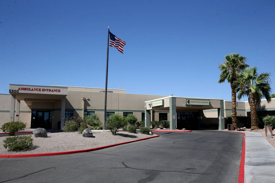 Montevista Hospital in Las Vegas Friday, Aug. 9, 2019. (K.M. Cannon/Las Vegas Review-Journal) @ ...
