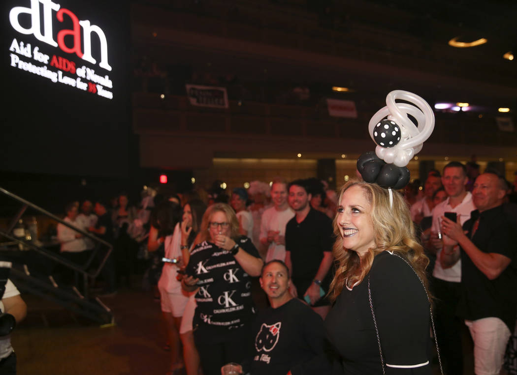 Michele Rothstein of Balloons With a Twist is recognized as a sponsor during the Aid for AIDS o ...