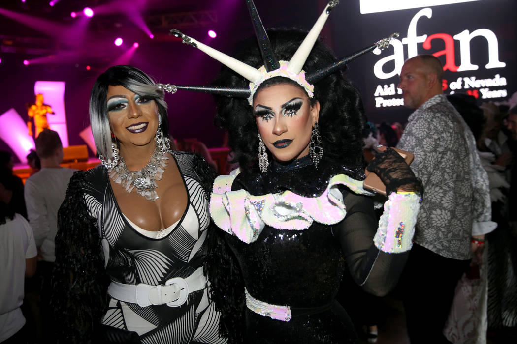 Vicky Jewelsla, left, of Los Angeles and La Cherry of Las Vegas during the Aid for AIDS of Neva ...