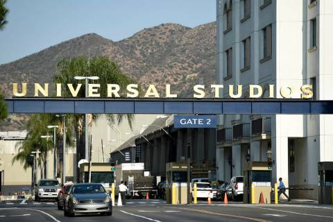 FILE - In this Aug. 23, 2016 file photo, the entrance to the Universal Studios lot is pictured ...