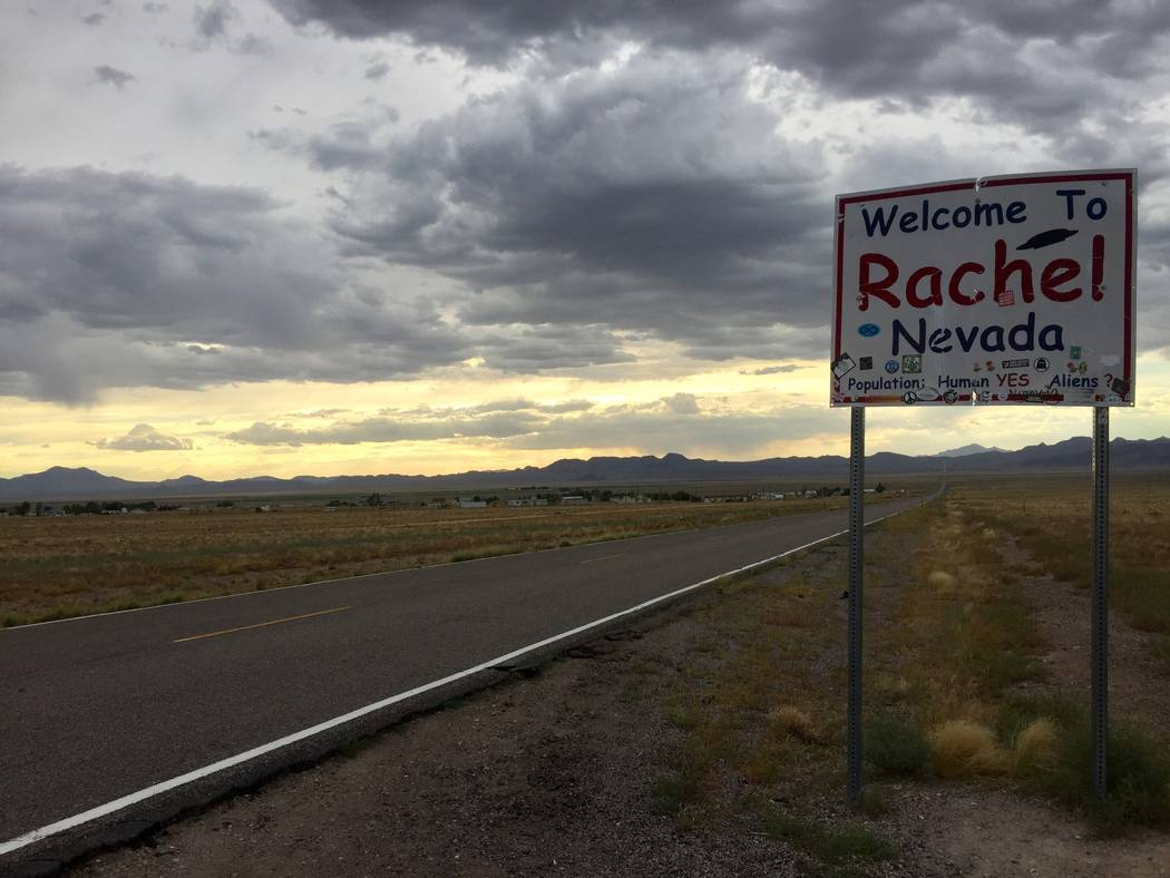 Rachel, a small collection of homes roughly 10 miles from the base, is the nearest thing resemb ...