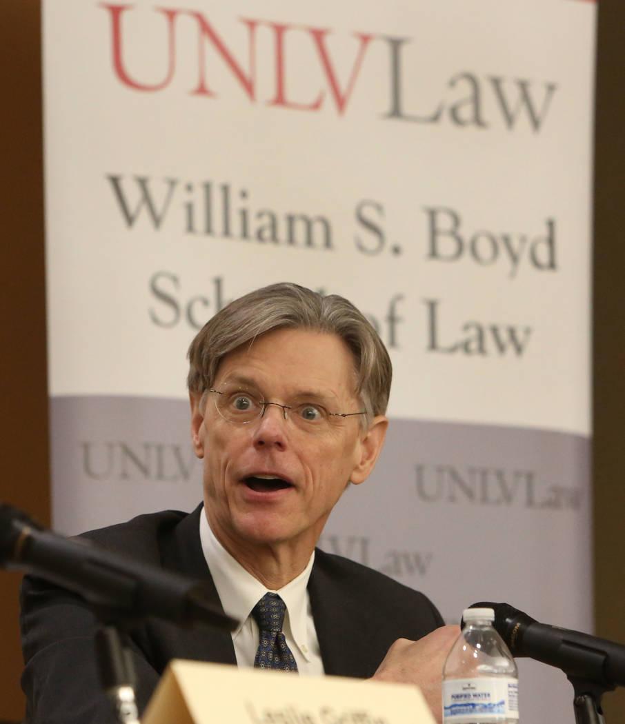 Stephen Bates, an associate professor in the Hank Greenspun School of Journalism and Media Stud ...