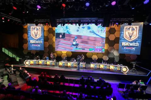 "Vegas Golden Knights players Alex Tuch, Malcolm Subban and William Karlsson play ""Fortnite ..."