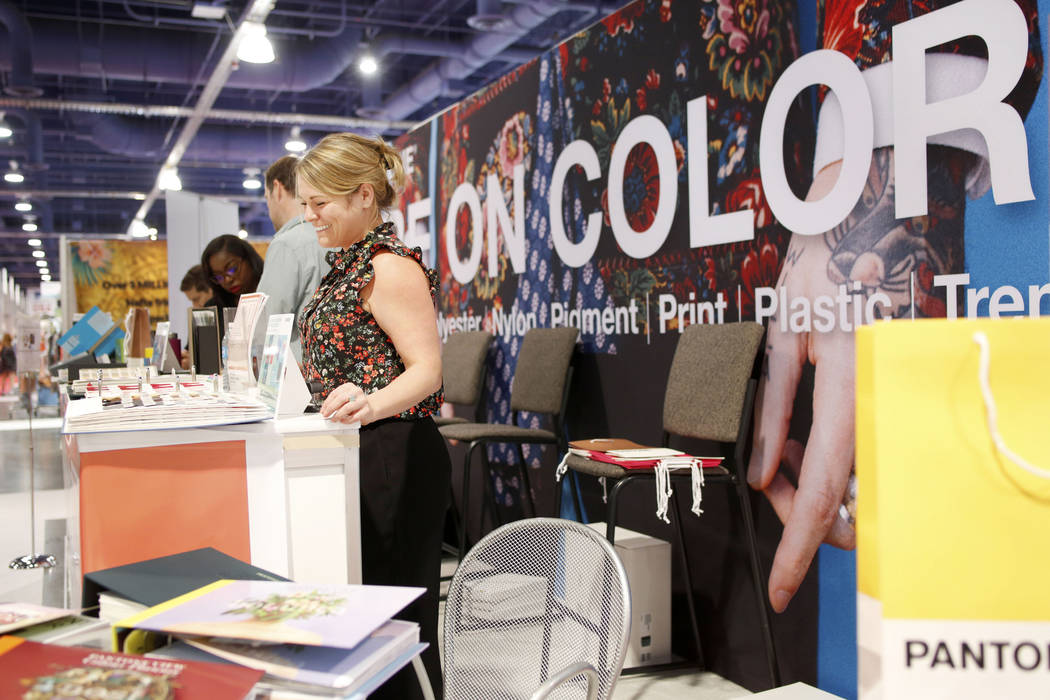 Global key accounts manager for Pantone Adrienne Collins explains the projected color pallets f ...