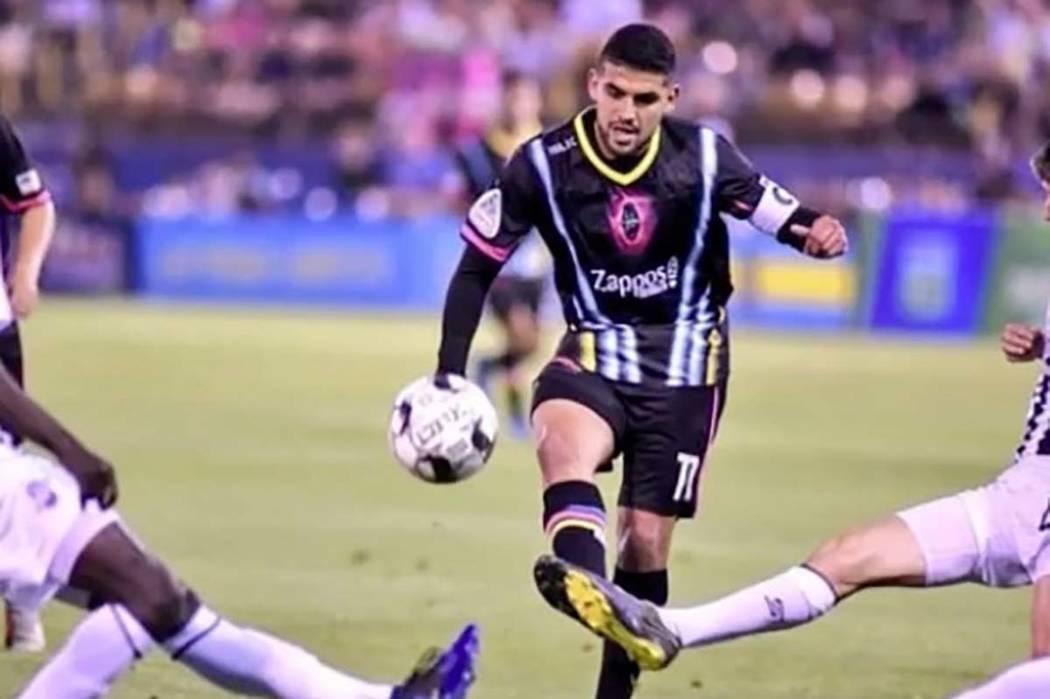 Las Vegas Lights FC player Irvin Raul Parra. (Facebook)