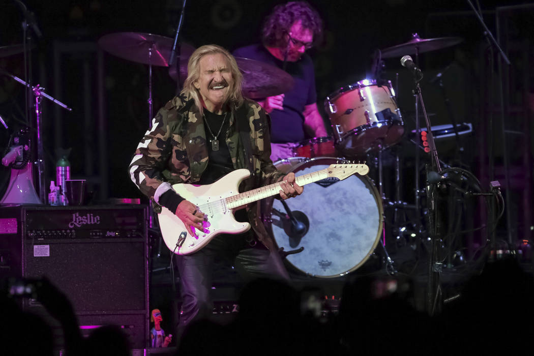 FILE - In this Sept. 20, 2017, file photo, Joe Walsh performs on stage during the Joe Walsh and ...