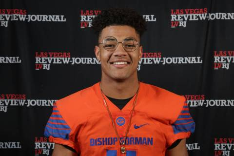 Bishop Gorman's Rome Odunze is a member of the Nevada Preps all-state football team.