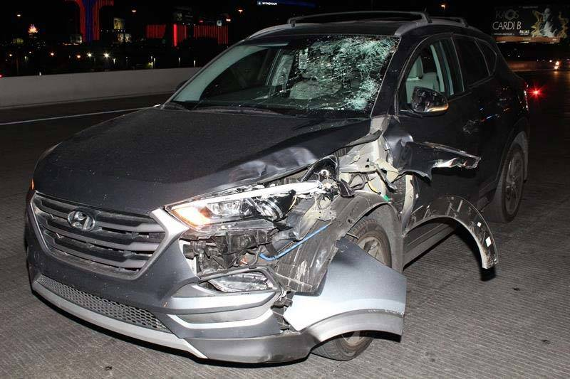 About 8:50 p.m. July 30, two men entered the path of an eastbound 2017 Hyundai Tucson while cro ...
