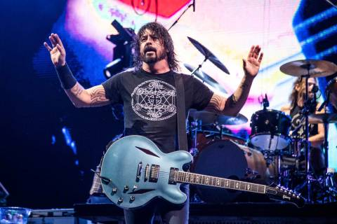 Dave Grohl of the Foo Fighters performs at the Sonic Temple Art and Music Festival at Mapfre St ...