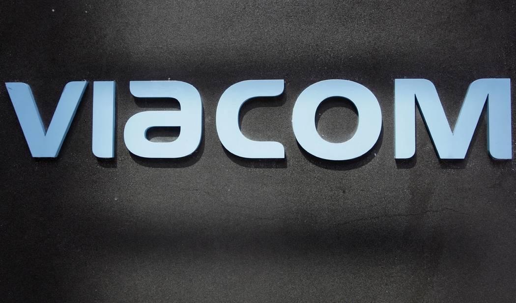 The Viacom logo at Viacom headquarters in New York. CBS and Viacom said Tuesday, Aug. 13, 2019, ...