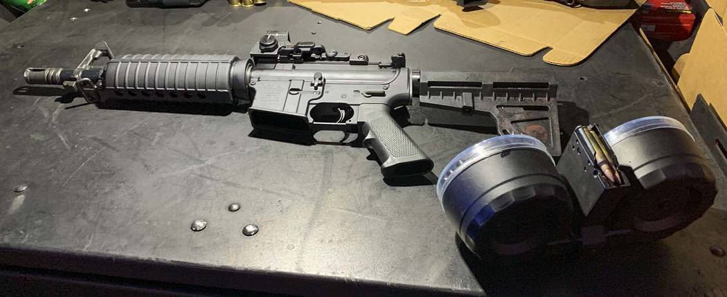 This August 2019 photo provided by the Dayton Police Department shows the firearm used by Conno ...