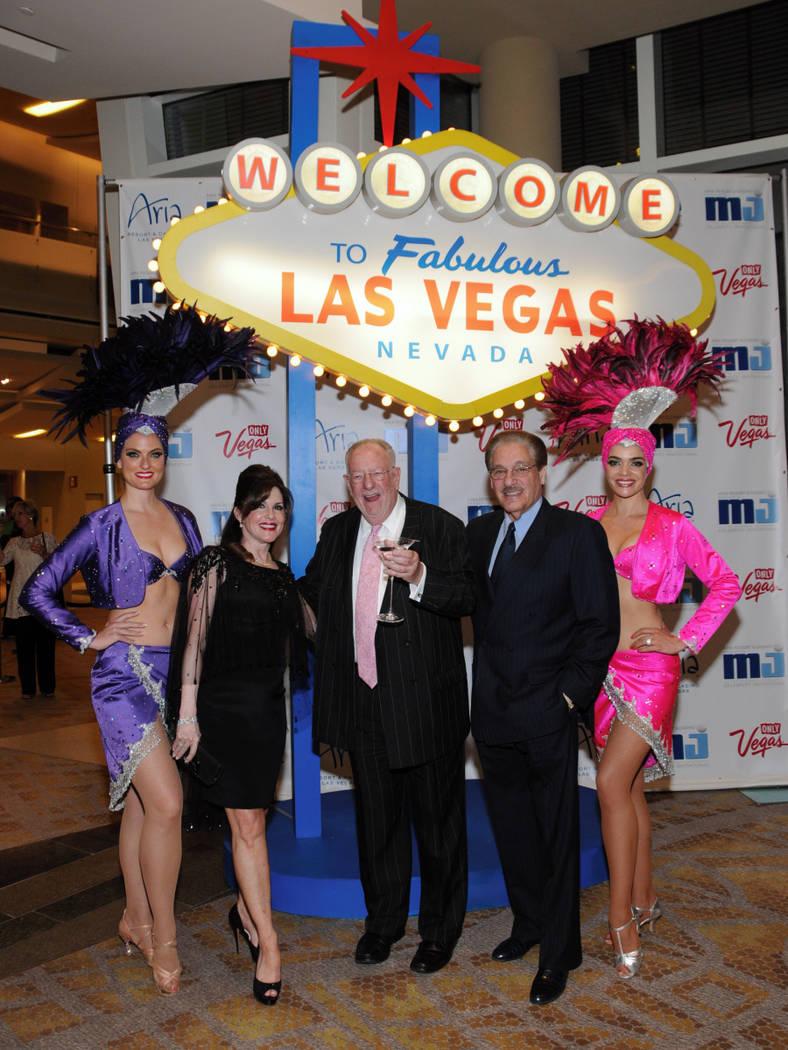 Morgan and Karen Cashman are shown with then-Las Vegas Mayor Oscar Goodman. (Cashman Photo)
