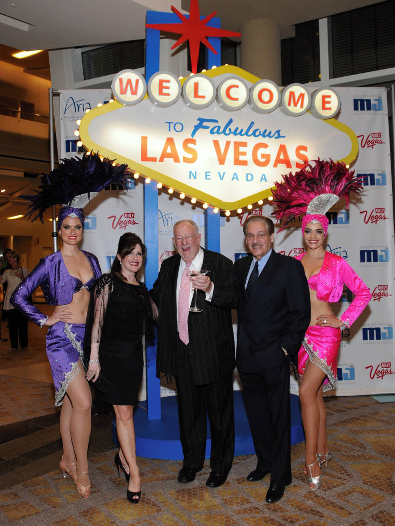 Morgan and Karen Cashman are shown with then-Las Vegas Mayor Oscar Goodman. (Cashman Photo)