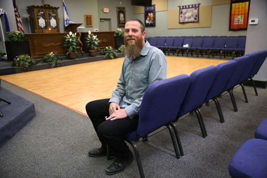 Rabbi Jered Hundley poses inside the Lev HaShem Messianic Synagogue in Las Vegas, Tuesday, Aug. ...