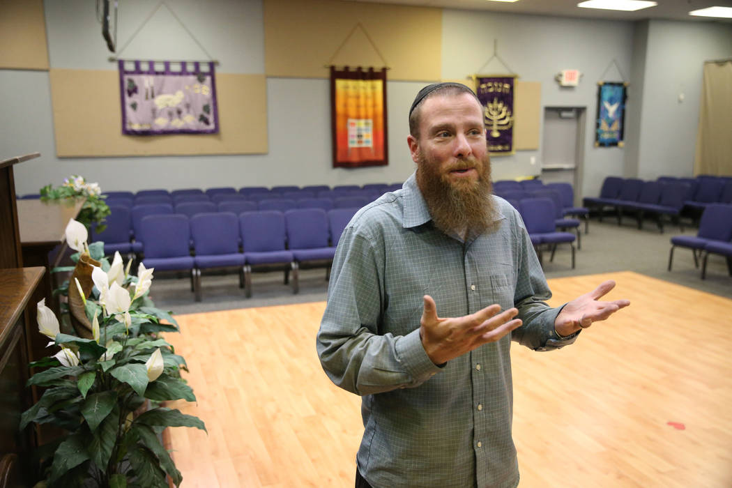 Rabbi Jered Hundley gives a tour of the Lev HaShem Messianic Synagogue in Las Vegas, Tuesday, ...