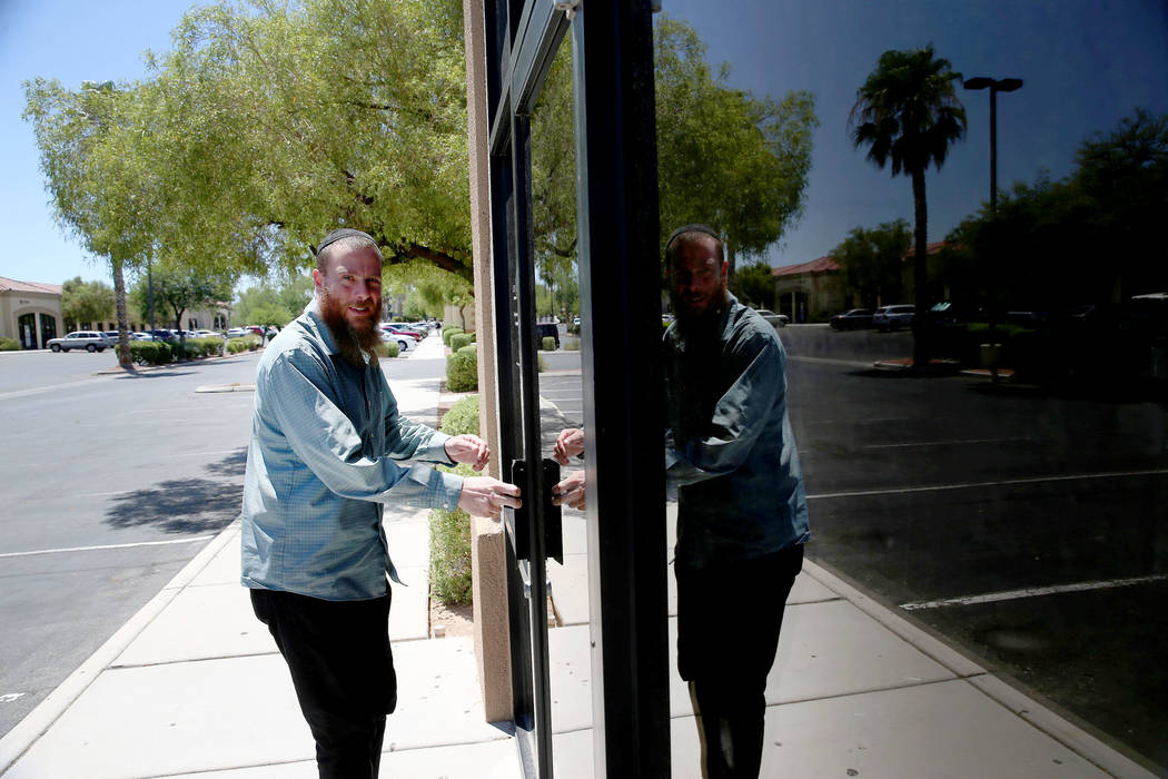 Rabbi Jered Hundley gives a tour of the Lev HaShem Messianic Synagogue in Las Vegas, Tuesday, A ...