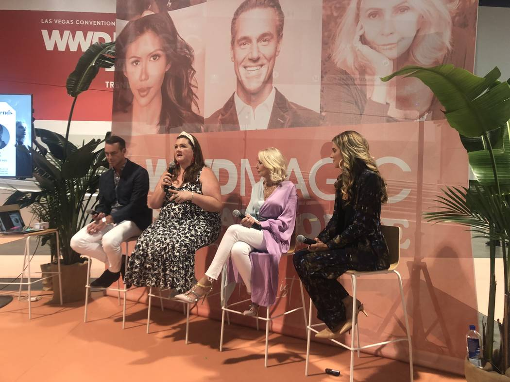 Rob Smith, Rachel Richardson and Sonia Lovett speak with Rachel McCord at a panel on Inclusivit ...