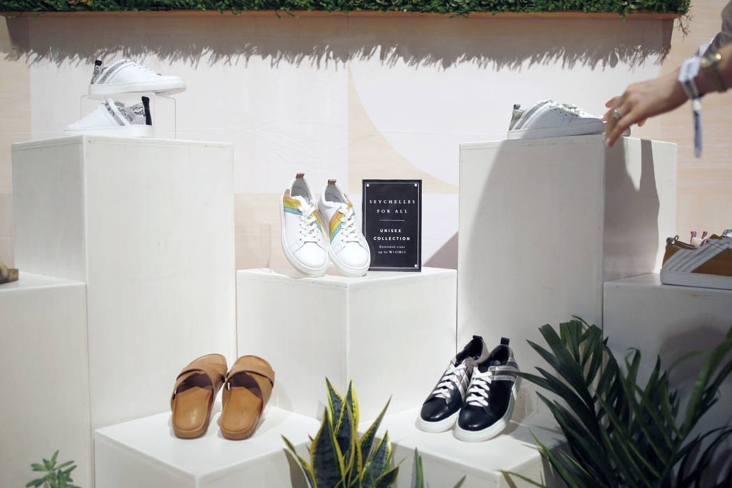 Seychelles' upcoming unisex collection projected to be sold in 2020 on display at the Seychelle ...